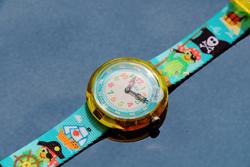 Montre Flik Flak Cute Size Funny Hours Parrot of the seas -