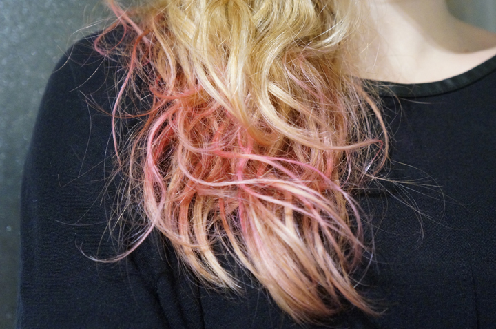 hair shadow hair fixer kiko test avis swatch rose pink cheveux ombr - Coloration Rose Temporaire
