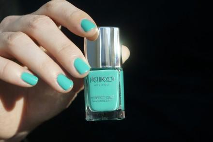 Kiko perfect gel duo - spring green 678 swatch avis