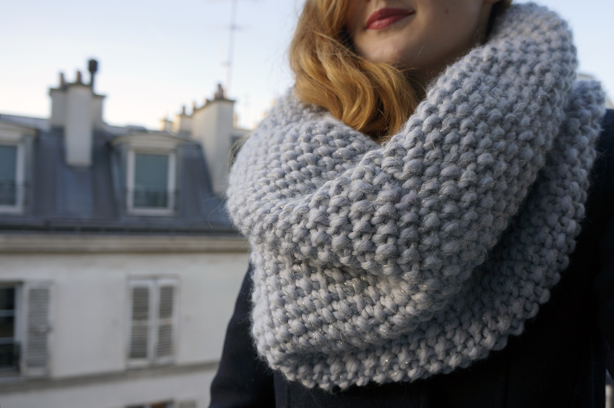 Le snood parfait de mon hiver soyons futiles - Aiguille a tricoter geante ...